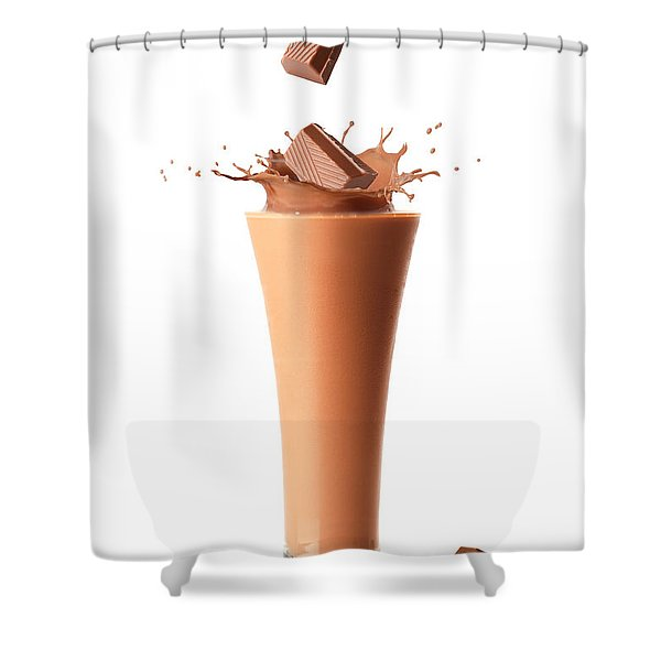 Chocolate Milkshake Smoothie Shower Curtain