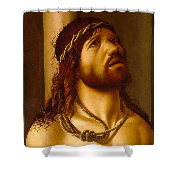 Christ At The Column Shower Curtain