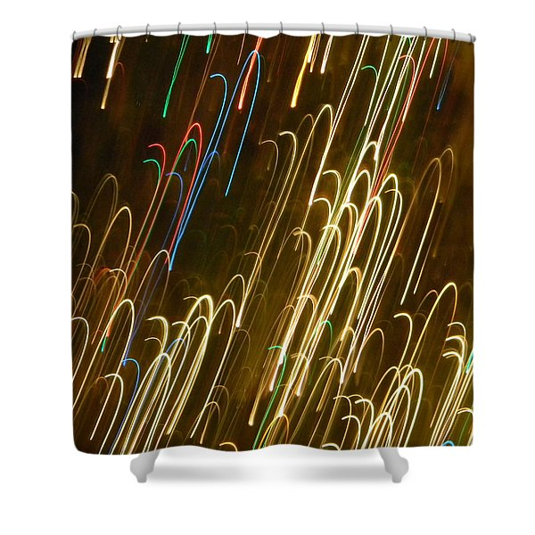Christmas Card - Candy Canes Shower Curtain