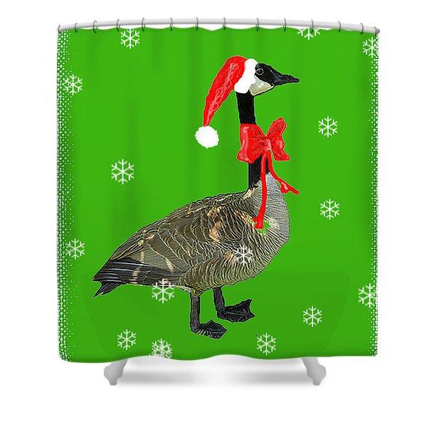Christmas Goose Shower Curtain
