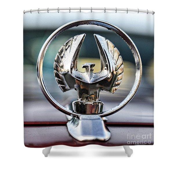 Chrysler Imperial Hood Ornament Shower Curtain