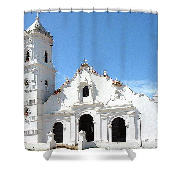 Church Of Nata De Los Caballeros Shower Curtain