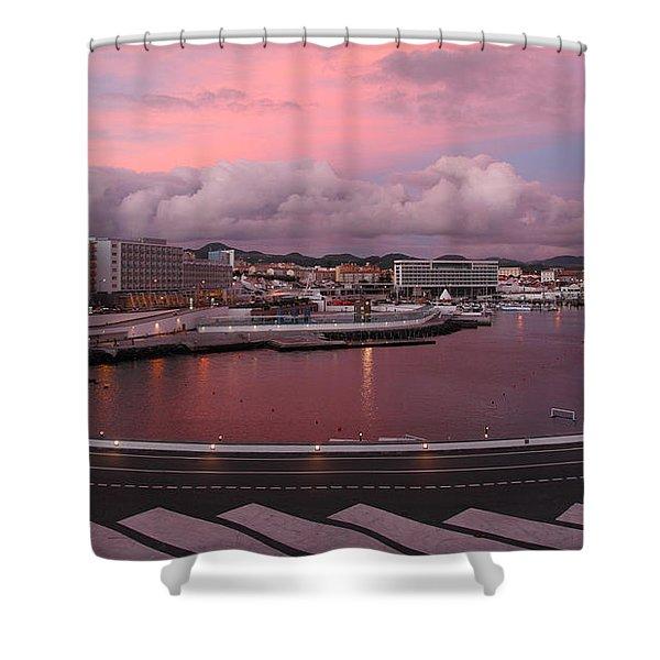 City At Dusk Shower Curtain