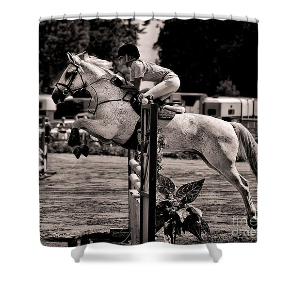 Clearing The Hurdle Shower Curtain