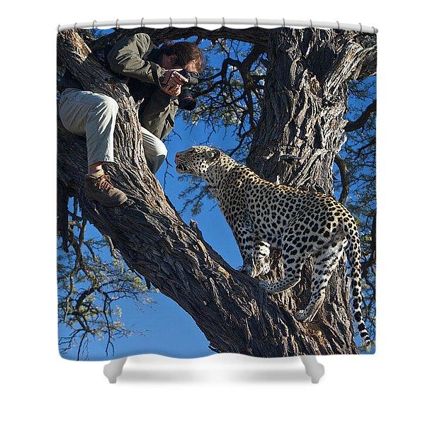 Close Encounter Namibia Shower Curtain