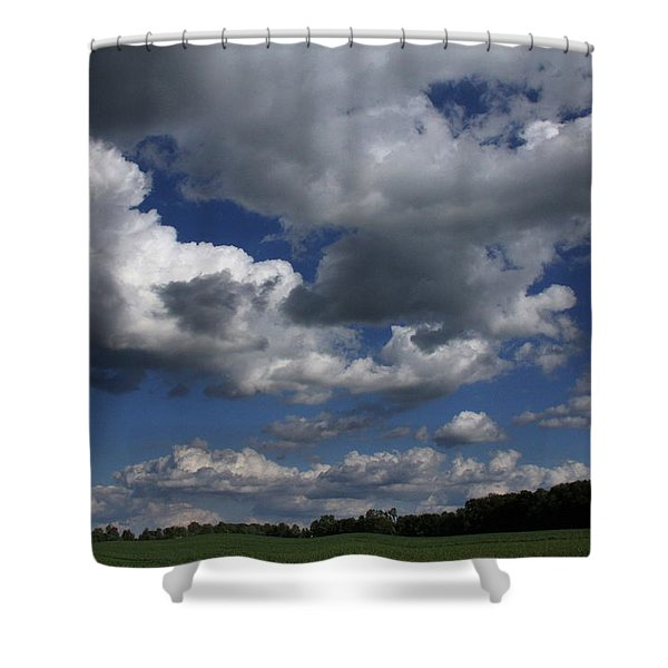 Cloud Convoy Shower Curtain