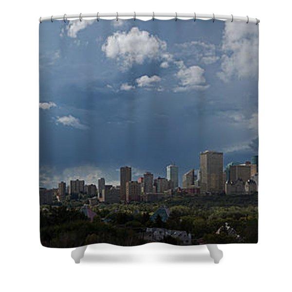 Cloudy Panorama Edmonton Shower Curtain