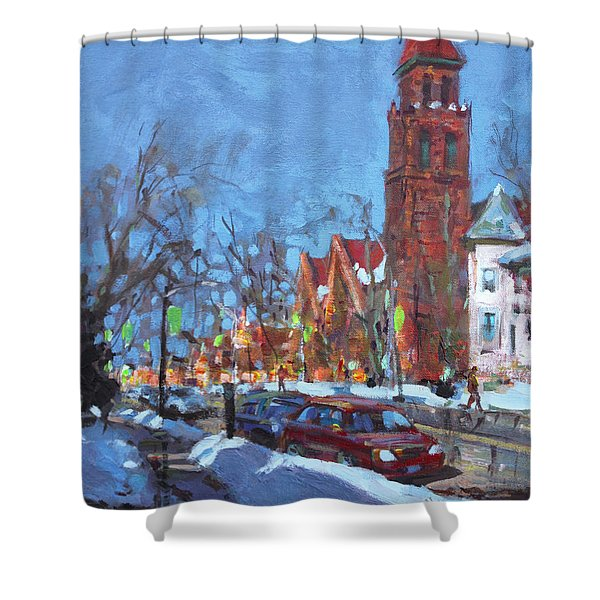 Cold Morning In Elmwood Ave  Shower Curtain