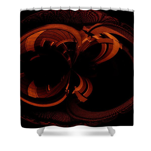 Color Study 03 Rust Shower Curtain