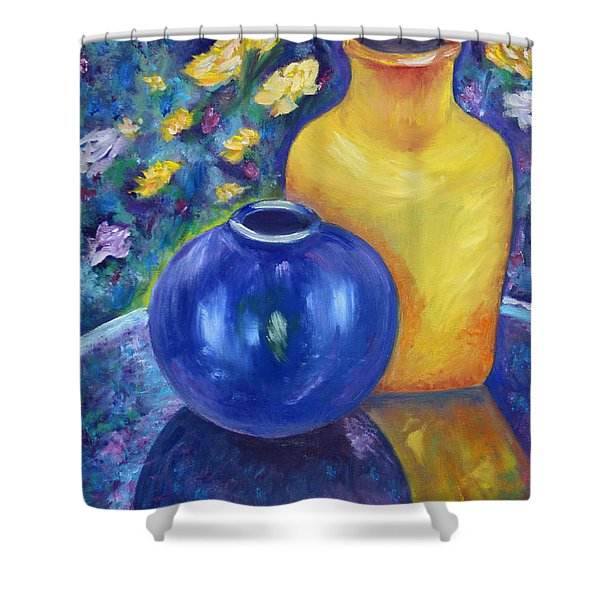 Colorful Jars Shower Curtain