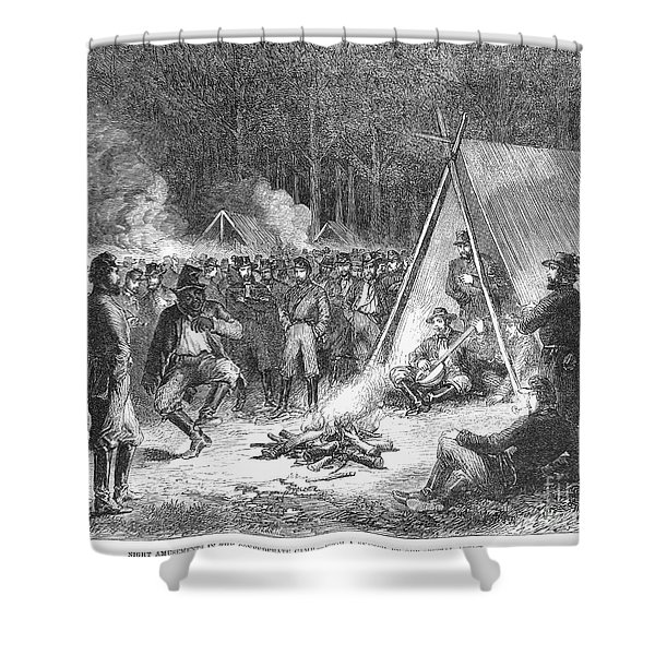 Confederate Camp, 1863 Shower Curtain