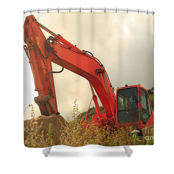 Construction Machinery Shower Curtain