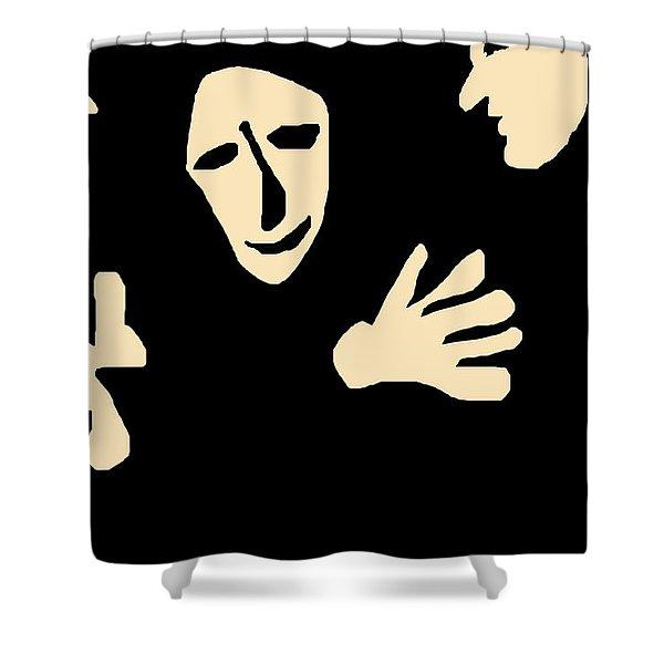 Conversation Shower Curtain