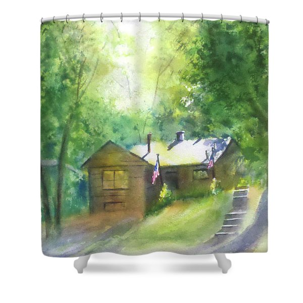 Cool Colorado Cabin Shower Curtain