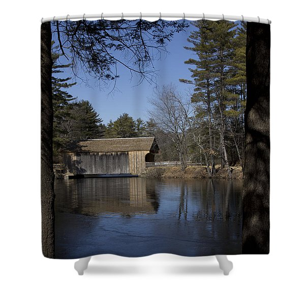 Cool Winter Morning Shower Curtain