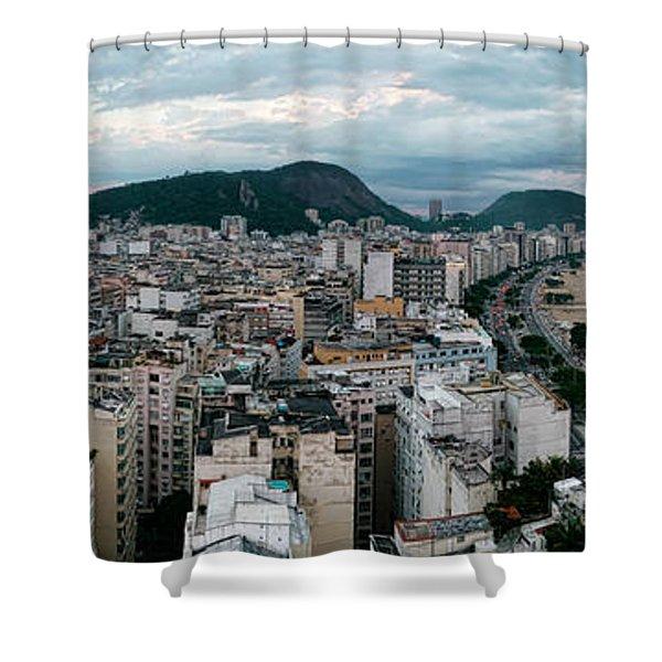 Copacabana Sunset Shower Curtain
