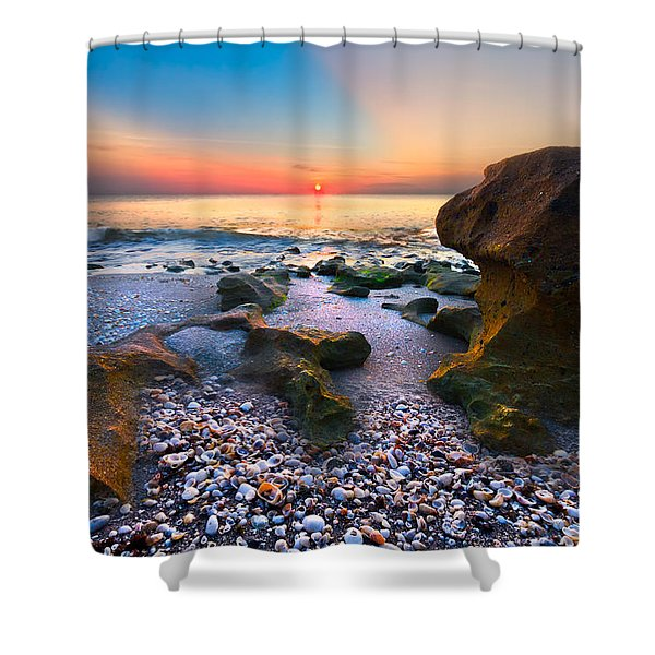 Coral Dawn Shower Curtain