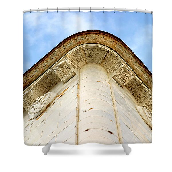 Corner Building Shower Curtain