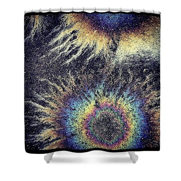 Cosmic Oil-b Shower Curtain