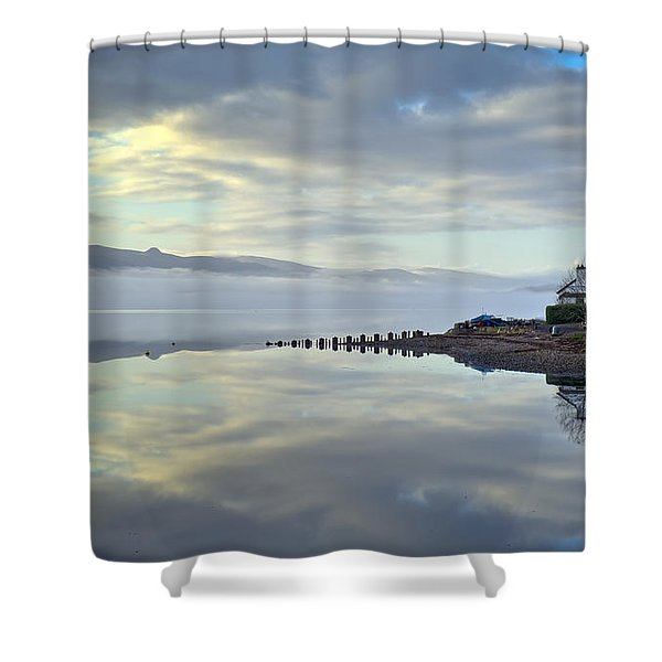Cottage On The Shore Shower Curtain