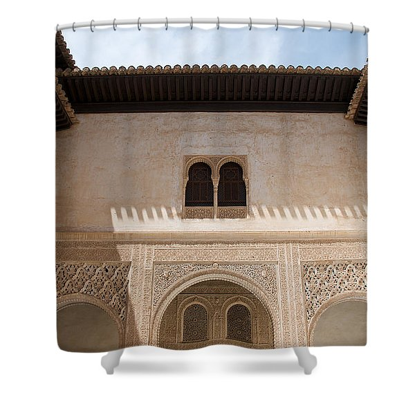 Courtyard Roof Alhambra Shower Curtain