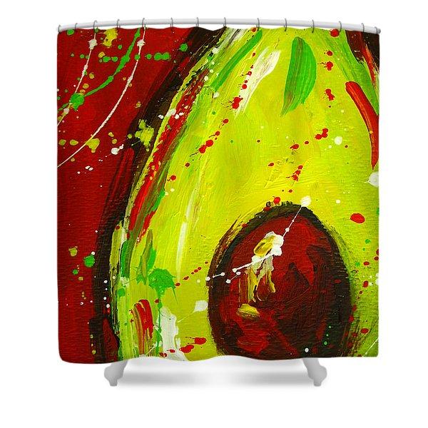 Crazy Avocado 3 - Modern Art Shower Curtain