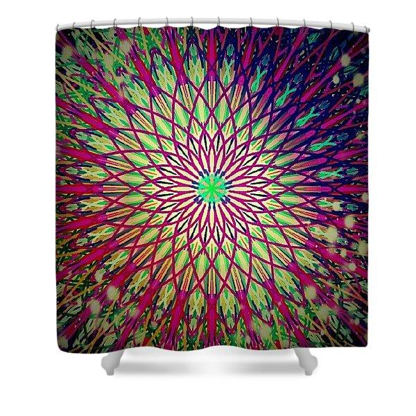 Crazy Days Mandala Shower Curtain