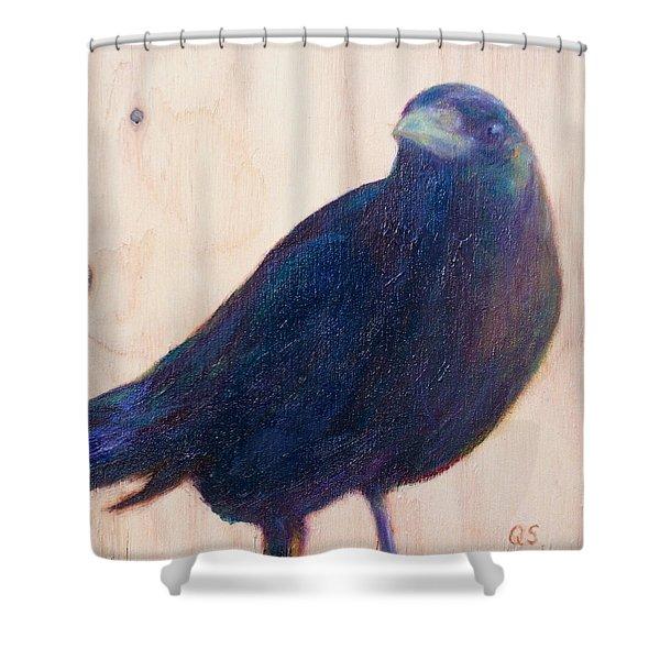 Crow Friend Shower Curtain