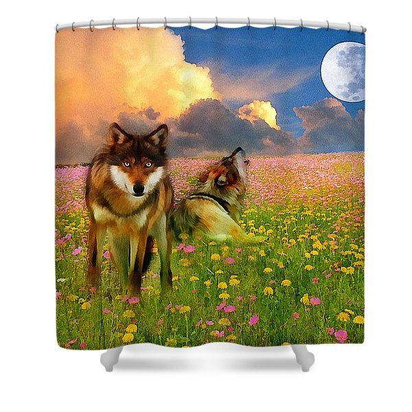 Cry At The Moon Shower Curtain