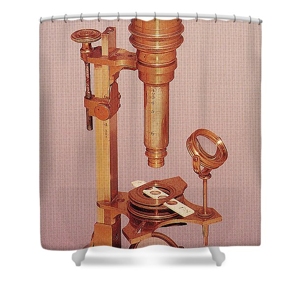 Cuff Compound Microscope Shower Curtain
