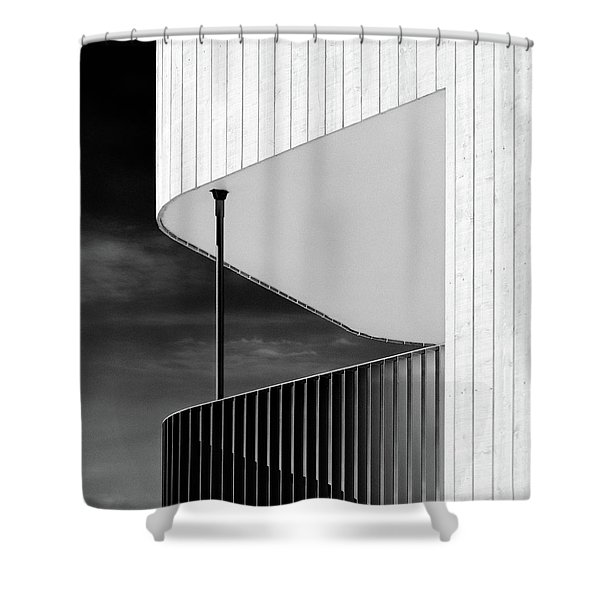 Curved Balcony Shower Curtain