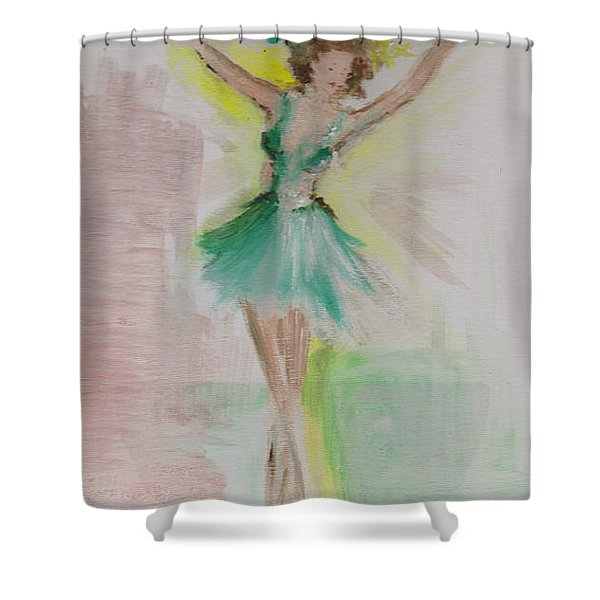 Shower Curtain featuring the painting Dance by Laurie Lundquist