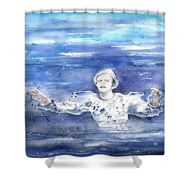 David Bowie In Ashes To Ashes Shower Curtain