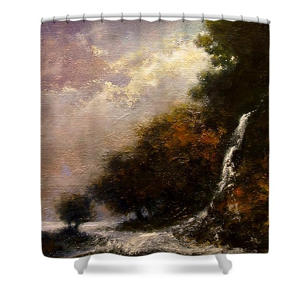 Daybreak Falls Shower Curtain