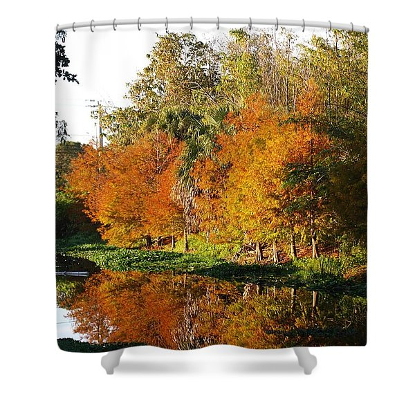 December Morn On Deerfield Creek Shower Curtain