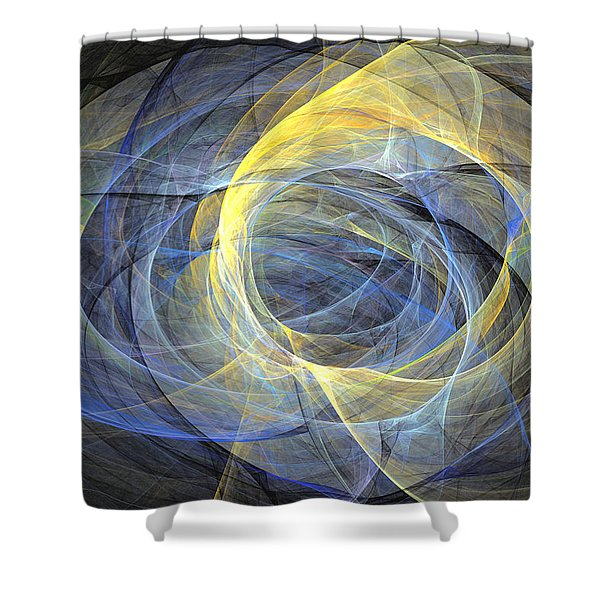 Delightful Mood Of Abstracted Mind Shower Curtain