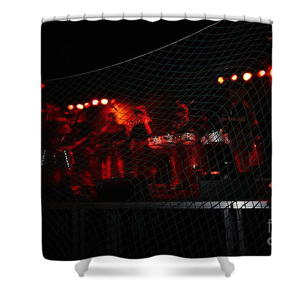 Shower Curtain featuring the photograph Demon Band by Agusti Pardo Rossello