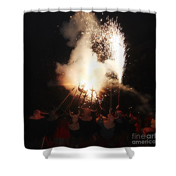 Shower Curtain featuring the photograph Demonic Coven by Agusti Pardo Rossello