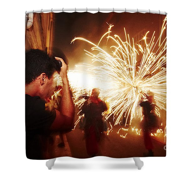 Shower Curtain featuring the photograph Demons Fire by Agusti Pardo Rossello