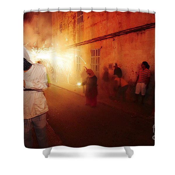 Shower Curtain featuring the photograph Demons In The Street by Agusti Pardo Rossello
