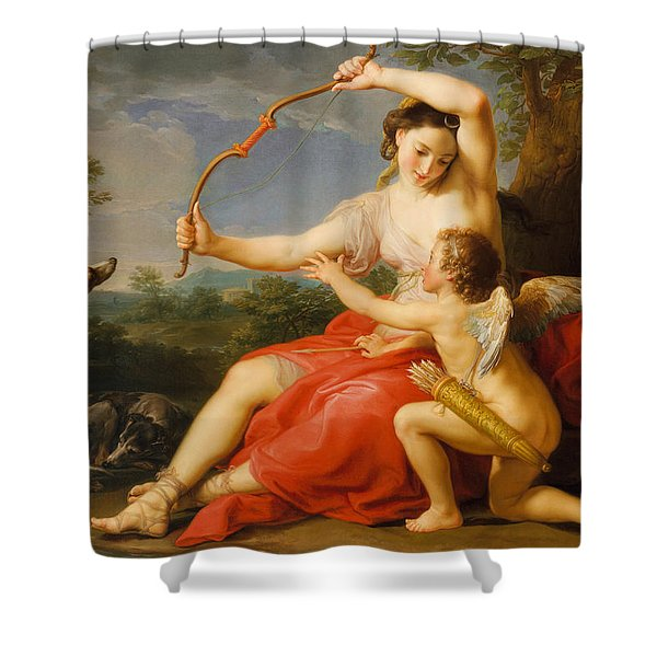 Diana And Cupid Shower Curtain