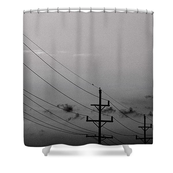 Dirty Power Shower Curtain