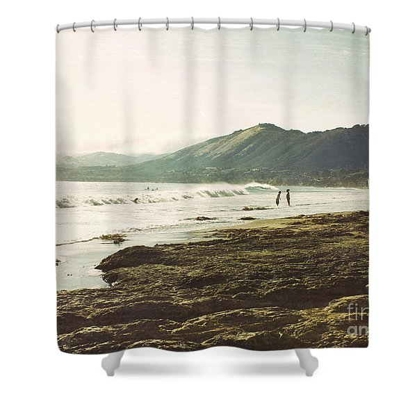 Distant Conversations Shower Curtain
