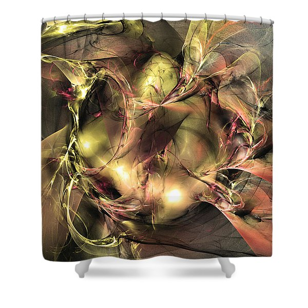 Do Not Touch -abstract Art Shower Curtain