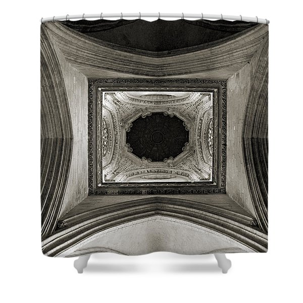 Dome In Saint Jean Church - Caen Shower Curtain