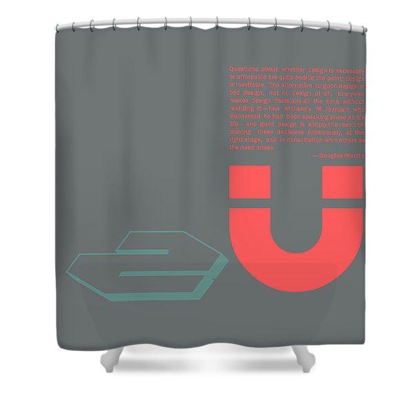 Douglas Martin Poster Shower Curtain