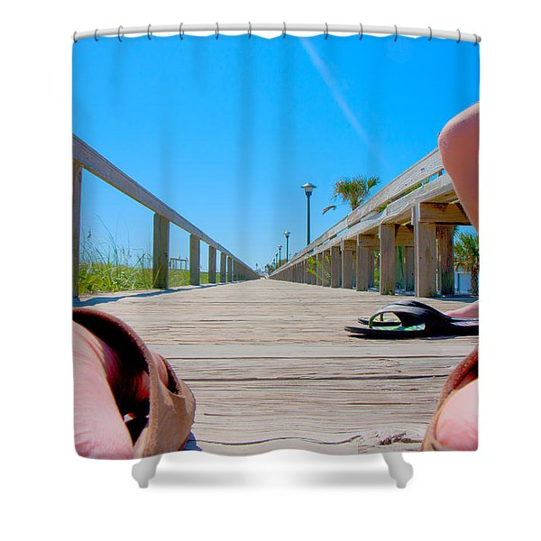 Down The Deck Shower Curtain