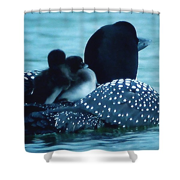 Duck Family Joy In The Lake  Shower Curtain