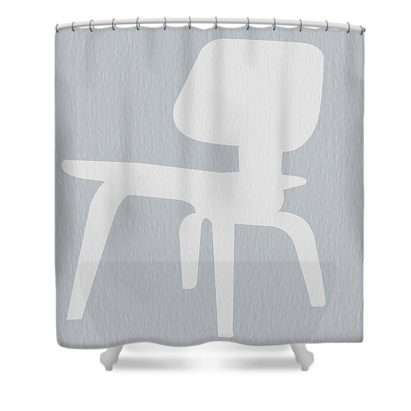 Eames Plywood Chair Shower Curtain