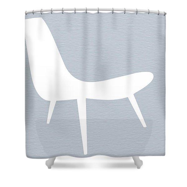 Eames White Chair Shower Curtain
